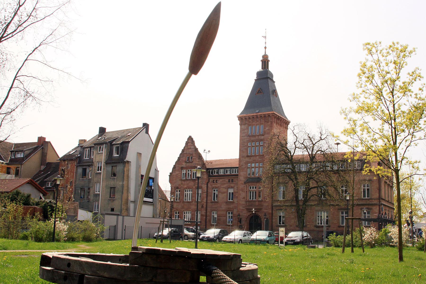 Blick auf das Dudweiler Rathaus