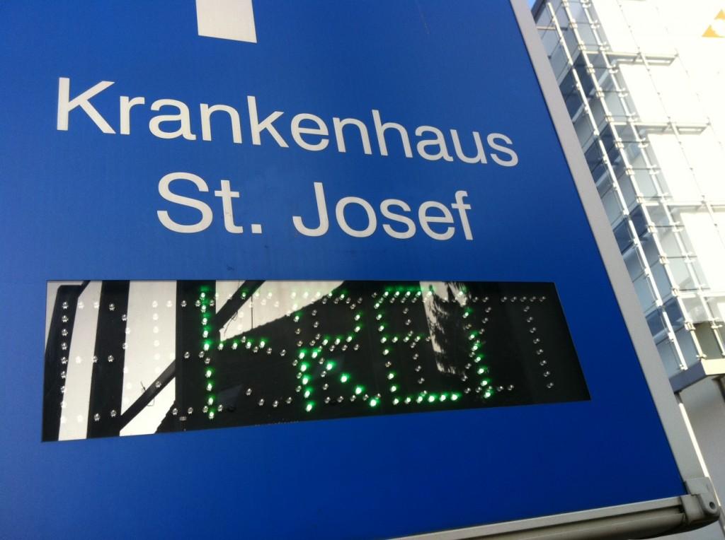 Freier Zugang zum Krankenhaus St. Josef