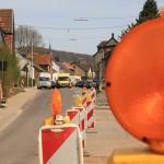 Sperrung der Saarbrücker Straße in Dudweiler