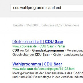 CDU-Wahlprogramm ohne Inhalt?