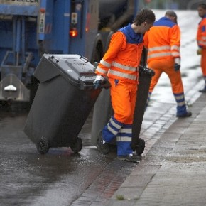 Starker Schneefall verhindert Abholung des Abfalls
