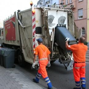 Minustemperaturen können die Leerung von Mülltonnen erschweren