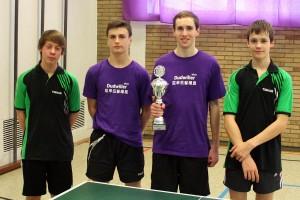 Die Siegermannschaft (von links): Florian Schmidt, Jonas Koob, Aaron Schwarz und Johannes Zander (Foto: privat)