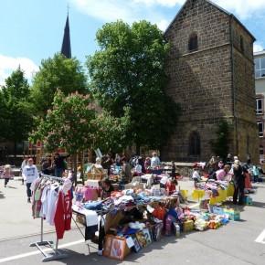 Petrus hatte Einsehen mit dem Frühlingsfest und Kinderflohmarkt der Turmschule