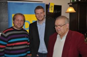 Joost Raue, Tobias Raab und Gerd Kiefer von der Dudweiler FDP (Foto: Partei)
