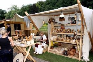 Händlerin auf dem Mittelaltermarkt (Foto: Veranstalter)
