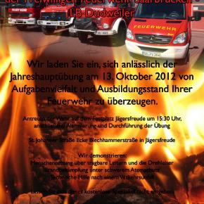 Jahreshauptübung 2012 der Dudweiler Feuerwehr