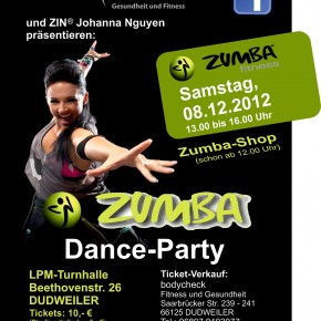 1. ZUMBA-Dance-Party am 08.12.2012 in Dudweiler
