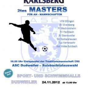 2. Traditionsturnier für AH Mannschaften. Veranstaltet am 24.11.2012 durch den ASC Dudweiler