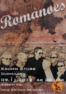 Plakat zum Romanoes-Konzert in der Krumm Stubb. (Foto: Band)