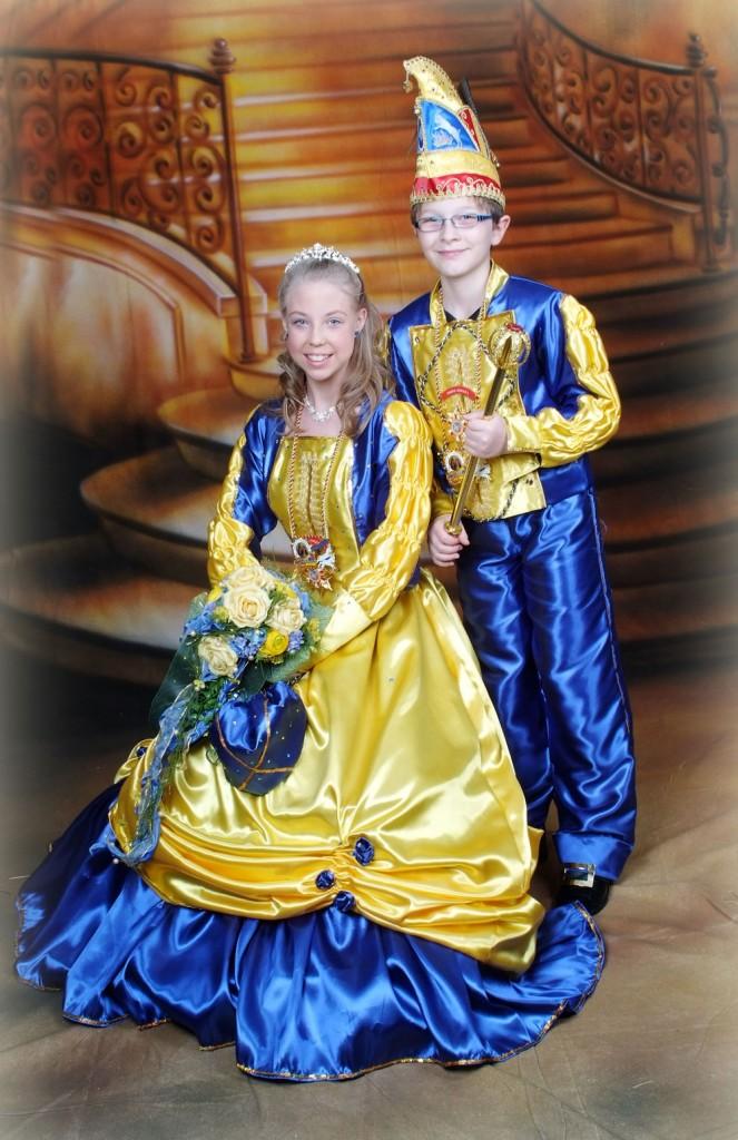 Ihre Lieblichkeit Prinzessin Annalena I. und Seine Tollität Prinz Jonas I. (Foto: Verein)