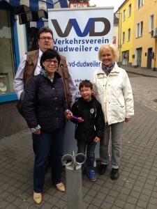 Mitglieder des Verkehrsvereins mit MdB Hübinger (2.v.l.)