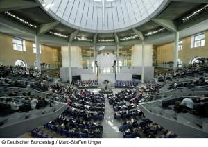 Haushaltsdebatte im Bundestag (Foto: Deutscher Bundestag, Marc-Steffen Unger)