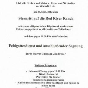 Red River Westernclub lädt am 29.09. zum Sternritt