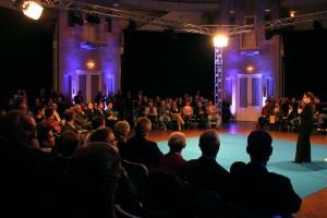 Ministerpräsidentin Annegret Kramp-Karrenbauer beim Saarland-Dialog im Bürgerhaus Dudweiler (Foto: Thomas Braun)