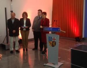 Vertreter der IG Dudweiler Nord bei der Ehrung (Foto: Verkehrsverein)