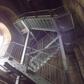 Die neue Turmtreppe zum Dachstuhl der evangelischen Christuskirche ist fertig