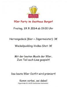 90er Party Burger