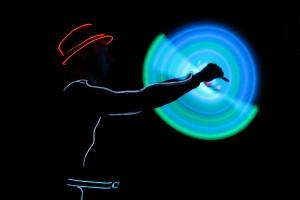 Lichtkünstler bei den Lichtblicken 2014 (Foto: Veranstalter)