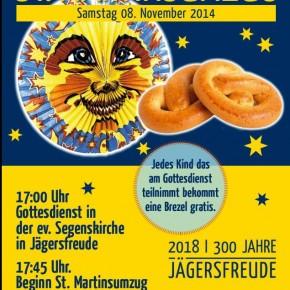 """""""Laterne, Laterne,...!"""" - St. Martinsumzug in Jägersfreude"""