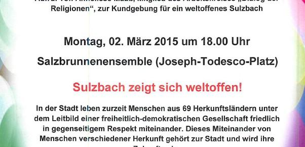 """Flagge zeigen gegen """"SaGeSa""""-Demo am 2. März in Sulzbach"""