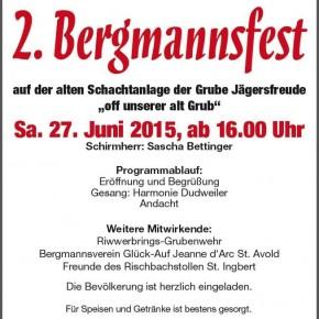 2.Bergmannsfest der Grubenwehrkameradschaft Jägersfreude