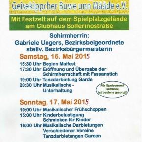 41. Maifest der Geisekippcher Buwe unn Määde e.V.