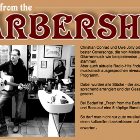 """Fresh from the barbershop"" heute Abend im Bistro Monsieur Hulot"