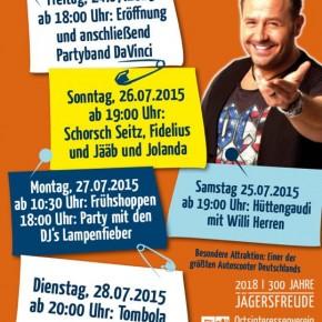 Jägersfreuder Kirmes vom 24.07.-28.07.2015