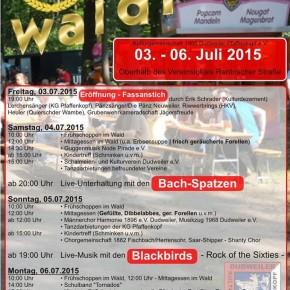 60. Waldfest des KG Pfaffenkopf von 03.07.-06.07.2015