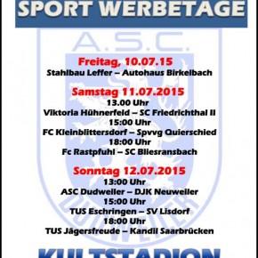 Sport Werbetage vom ASC Dudweiler von 10.07.-12.07.2015