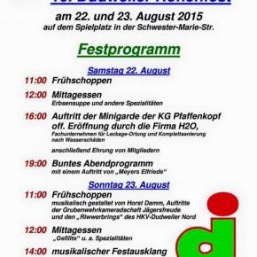 10. Dudweiler Höhenfest von 22.08.-23.08.2015