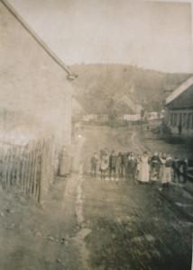 """""""Foto: Scheidter Straße/Ecke Wagenlück - ca. 1910 - Fotosammlung Dudweiler Geschichtswerkstatt"""""""