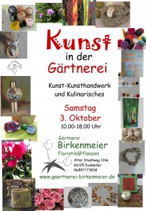 Kunst in der Gärtnerei-Plakat