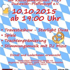 Oktoberfest der KG Pfaffenkopf mit Travestieshow – Starlight Divas