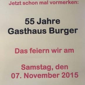 55 Jahre Gasthaus Burger