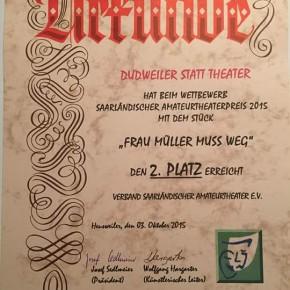 Dudweiler Statt-Theater: 2. Platz und Loriot