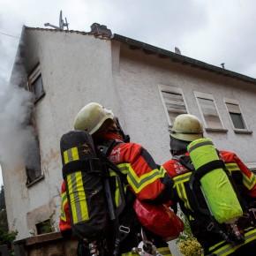 Brand in Dudweiler- DRK im Einsatz