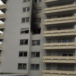 Brand in Dudweiler Hochhaus
