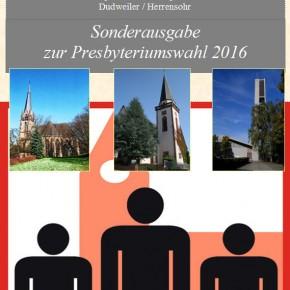 Presbyteriumswahl 2016 der Evangelischen Kirchengemeinde Dudweiler/Herrensohr