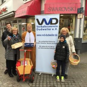 VVD verteilt Ostereier an Dudweiler BürgerInnen