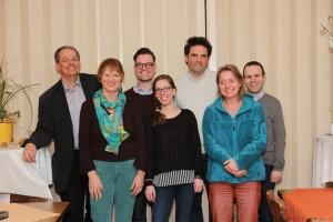 Neuer Vorstand: von links nach rechts, Ingo Friedrich, Karin Burkart, Michael Wernet, Lisa Schwarz, Peter Wünsch, Beate Ewald und Jèrôme Lange.