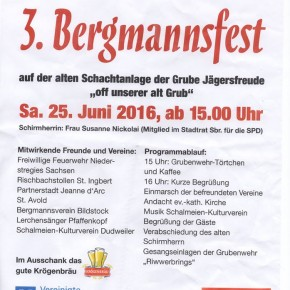 3. Bergmannsfest der Grubenwehrkameradschaft