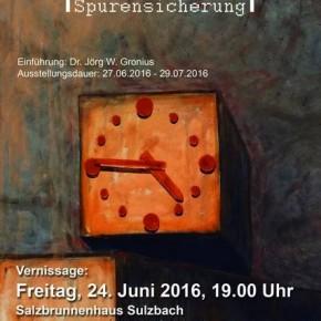 """Ausstellung """"Spurensicherung"""" im Salzbrunnenhaus"""