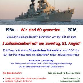 Marinekameradschaft feiert 60-jähriges Jubiläum
