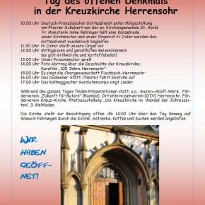 Tag des offenen Denkmals in der Kreuzkirche Herrensohr