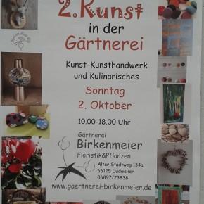 Kunst in der Gärtnerei Birkenmeier