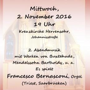 Musik in der Kreuzkirche Herrensohr