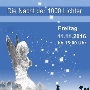 """13. und letzte Dudweiler Lichtblicke am 11. 11.2016:  """"Dudweiler Lichtblicke: Nacht der 1000 Lichter"""""""