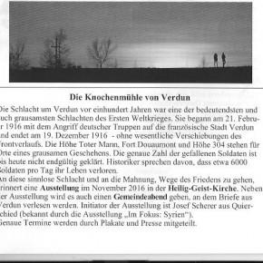 Die Knochenmühle von Verdun